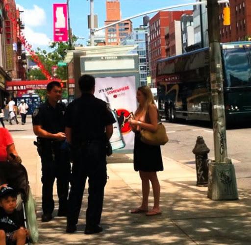 Walking topless in new york